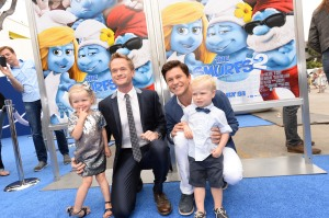 Neil Patrick Harris and family (C) Getty Images/Sony