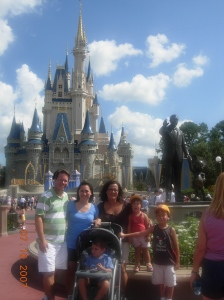 OK, can you tell these families believe in Disney magic?
