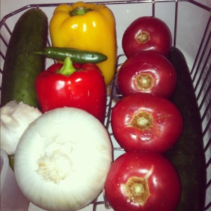 I had a variety of pepper colors, but green is great too! My addiction, my family doesn't touch these
