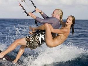 Here is how Branson waterskiis