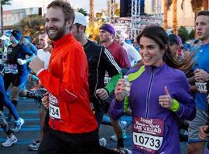 Plus these days, you never know who'll be rocking next to you!   Paul McDonald and Nikki Reed ran Vegas!