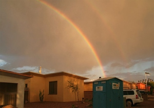 Finding the silver lining, the gold at the end of the rainbow...
