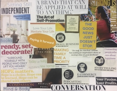 Organize your vision board into zones